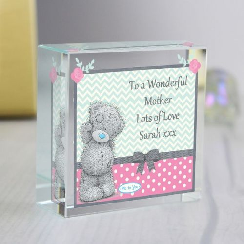Personalised Me To You Pastel Belle Medium Crystal Token
